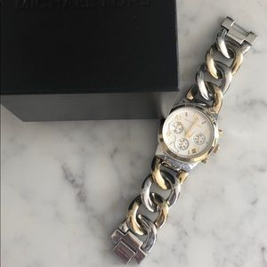 Michael Kors Chain Link Gold/Silver Watch